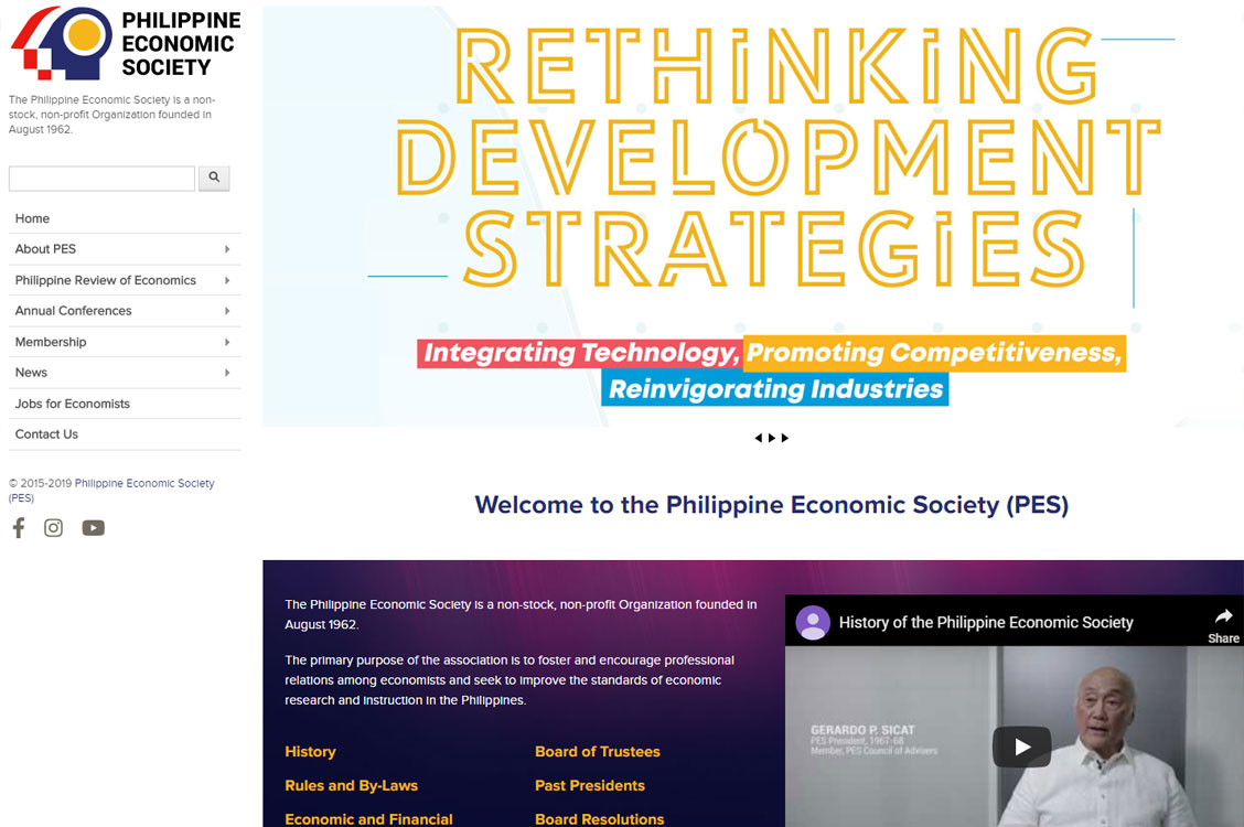 Web designer and developer or PES membership, conference and events website in Quezon City, Philippines
